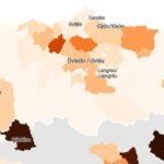 Asturias. Ciudades y municipios con COVID